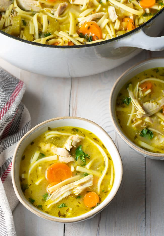 Amazing Chicken Noodle Soup Recipe #ASpicyPerspective #Chicken #soup #chickensoup #noodle #best #comfortfood