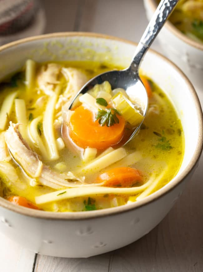 homemade chicken noodle soup recipe video  a spicy
