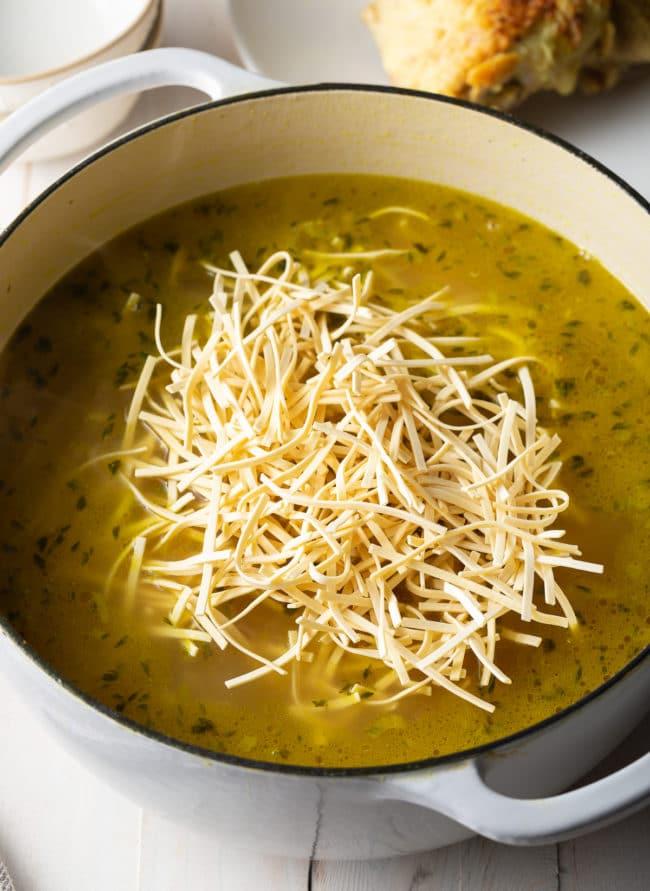 Easy Chicken Noodle Soup Recipe #ASpicyPerspective #Chicken #soup #chickensoup #noodle #best #comfortfood