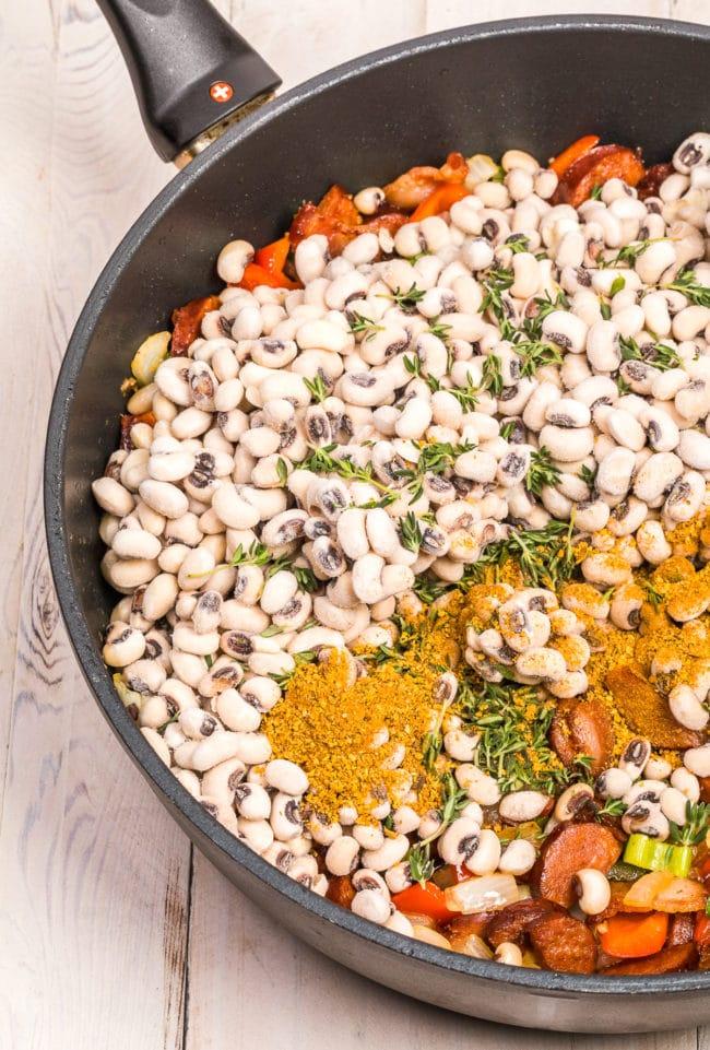 Black-Eyed Peas Recipe #ASpicyPerspective #peas #rice #blackeyedpeas #southern #newyears