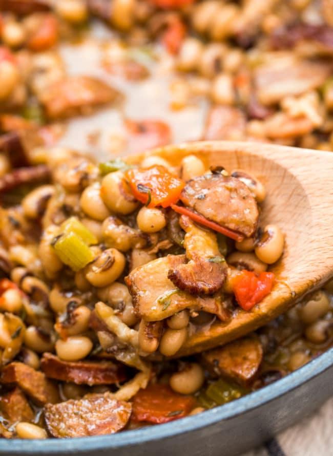 Best Hoppin' John Recipe #ASpicyPerspective #peas #rice #blackeyedpeas #southern #newyears