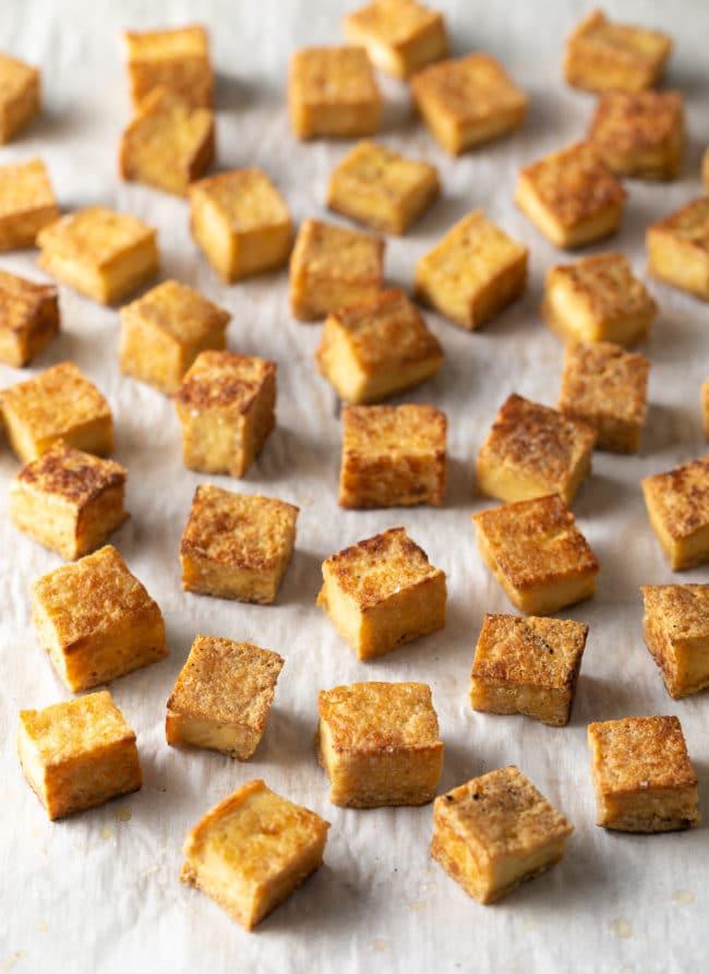 Crispy Tofu Recipe #ASpicyPerspective #vegetarian #curry #thai #tofu #asian #healthy #glutenfree