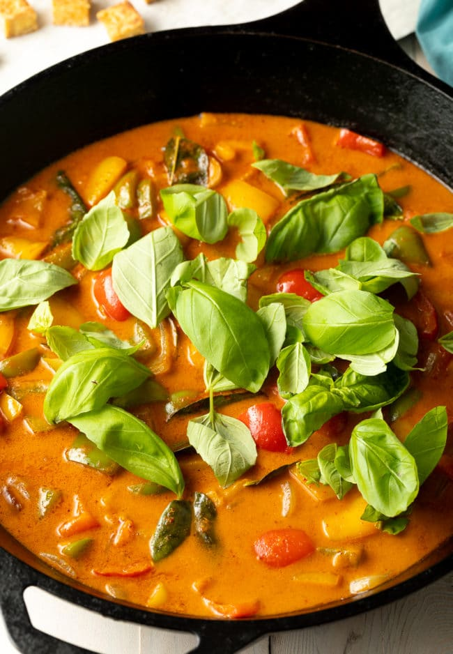 Thai Curry Recipe with Crispy Tofu #ASpicyPerspective #vegetarian #curry #thai #tofu #asian #healthy #glutenfree