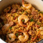 Jambalaya Recipe (Gluten Free!) #ASpicyPerspective #glutenfree #healthy #cajun #shrimp #chicken #sausage #rice #onepot