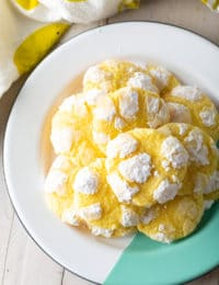 Lemon Crinkle Cookies Recipe #ASpicyPerspective #cookies #lemon #christmas #easter #best #easy