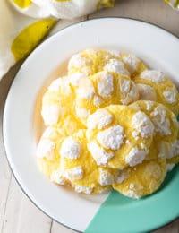 Lemon Crinkle Cookies Recipe #ASpicyPerspective #cookies #lemon #christmas #easter #best #easy