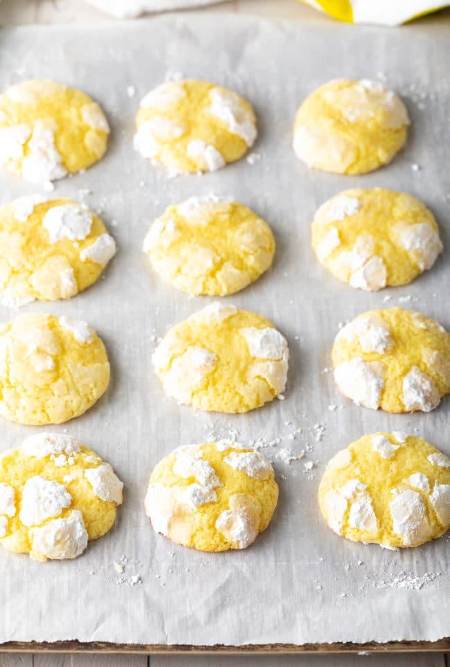 Perfect Lemon Crinkle Cookies Recipe #ASpicyPerspective #cookies #lemon #christmas #easter #best #easy
