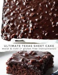 Perfect Texas Sheet Cake Recipe #ASpicyPerspective #chocolate #cake #sheetcake #texas #pecan #tailgating #holiday #party #bakesale