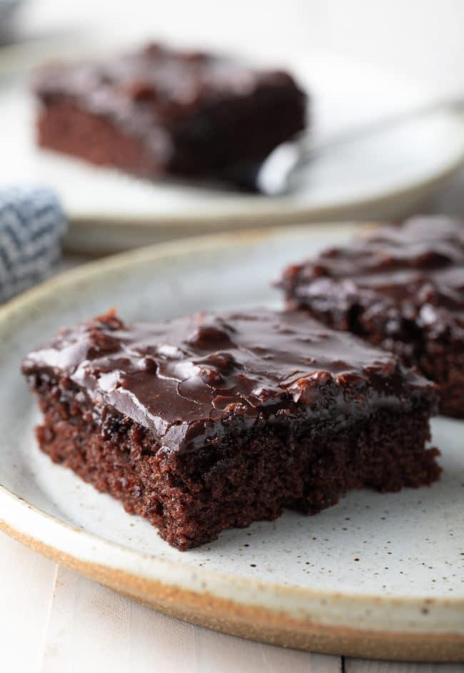 Best Chocolate Sheet Cake Recipe #ASpicyPerspective #chocolate #cake #sheetcake #texas #pecan #tailgating #holiday #party #bakesale