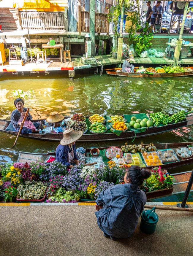 Floating Market - Family Thailand Travel Tips #ASpicyPerspective #vacation #thailand #asia #trip #travel