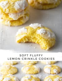 Easy Lemon Crinkle Cookies Recipe #ASpicyPerspective #cookies #lemon #christmas #easter #best #easy