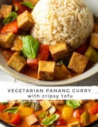 Easy Panang Curry Recipe with Crispy Tofu #ASpicyPerspective #vegetarian #curry #thai #tofu #asian #healthy