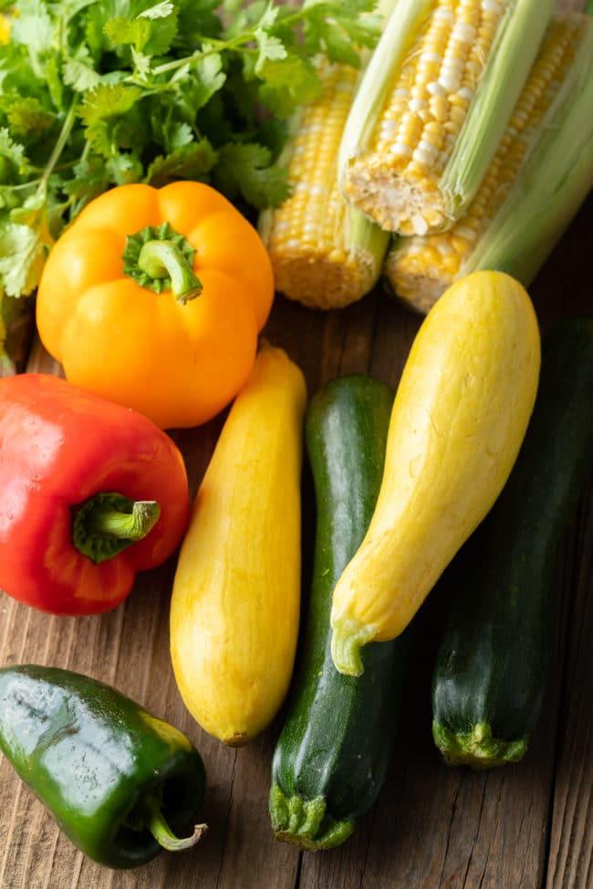 Calabacitas Ingredients