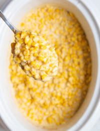 Creamed Corn Recipe #ASpicyPerspective #corn #thanksgiving #holidays #southern #crockpot #slowcooker