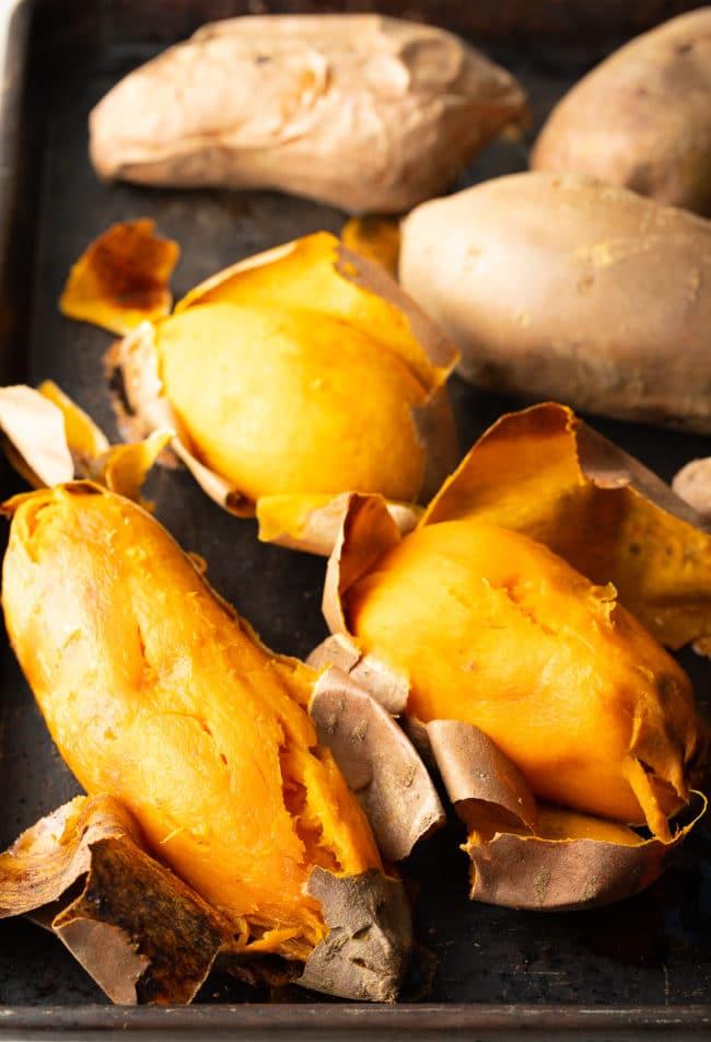 Baked Sweet Potatoes Recipe #ASpicyPerspective #thanksgiving #holiday #glutenfree #sidedish #sweet #potato