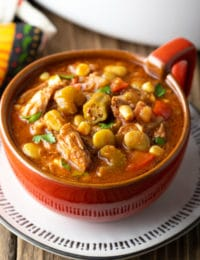 Slow Cooker Brunswick Stew Recipe #ASpicyPerspective #brunswick #stew #crockpot #fall #bbq