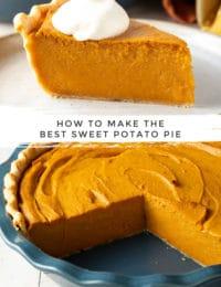 Perfect Sweet Potato Pie Recipe #ASpicyPerspective #pie #thanksgiving #holiday #sweetpotato