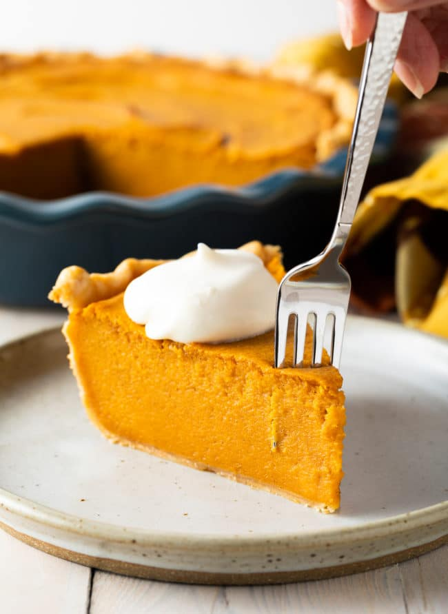 Easy Sweet Potato Pie Recipe #ASpicyPerspective #pie #thanksgiving #holiday #sweetpotato
