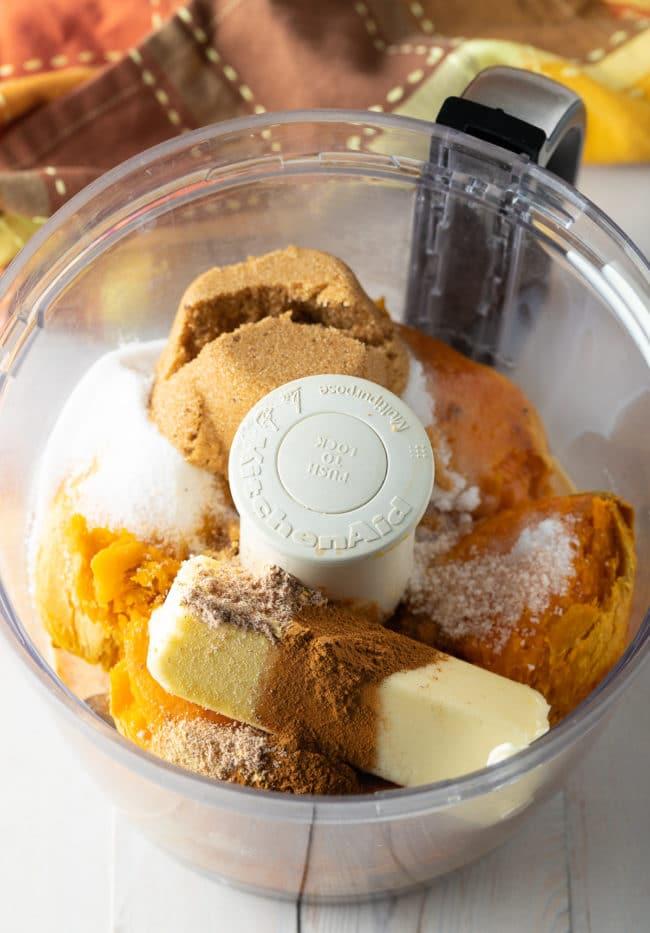 Puree: Sweet Potato Pie Recipe #ASpicyPerspective #pie #thanksgiving #holiday #sweetpotato