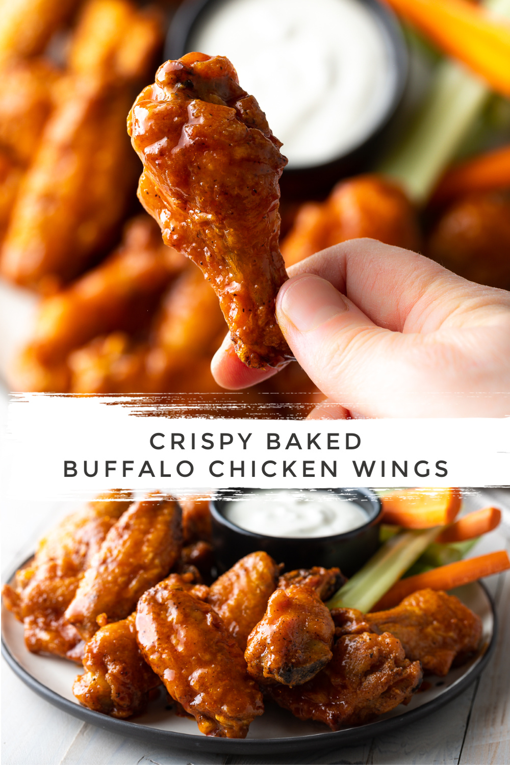 Crispy Baked Buffalo Wings Recipe: Learn How to Make the BEST Baked Chicken Wings in the Oven! This Hot Wings Recipe + Sauce is SO delicious! #ASpicyPerspective #chicken #wings #hot #buffalo #baked #crispy #best #superbowl #party