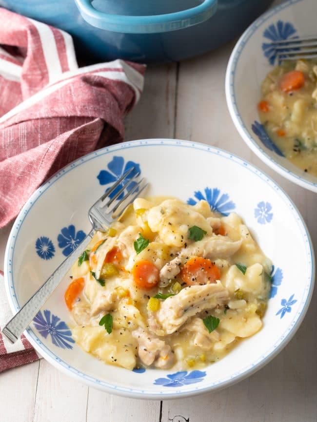 Best Chicken Dumplings Recipe #ASpicyPerspective #easy #comfortfood #southern #dumplings #chicken #crockpot #slowcooker #instantpot