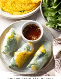 Best Bánh Xèo Recipe (Vietnamese Crepes) #ASpicyPerspective #vietnamese #crepes #banh #xeo #howto #asian