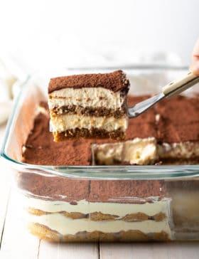 The BEST Tiramisu Recipe Ever! #ASpicyPerspective #italian #mascarpone #espresso #holiday #dessert #cake #coffee #cocoa