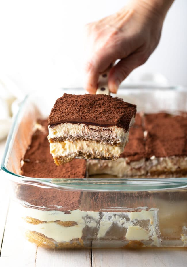The Best Tiramisu (Recipe & VIDEO) #ASpicyPerspective #italian #mascarpone #espresso #holiday #dessert #cake #coffee #cocoa #rum