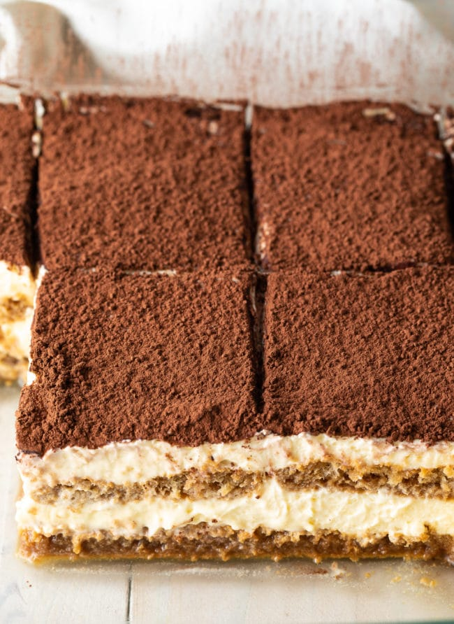 Easy Tiramisu (Recipe & VIDEO) #ASpicyPerspective #italian #mascarpone #espresso #holiday #dessert #cake #coffee #cocoa #rum