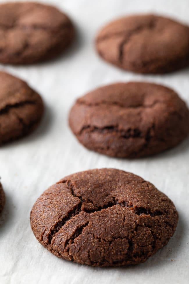 Chocolate Snickerdoodle Cookie Recipe #ASpicyPerspective #cookie #cookies #christmas #holiday #chocolate #cinnamon