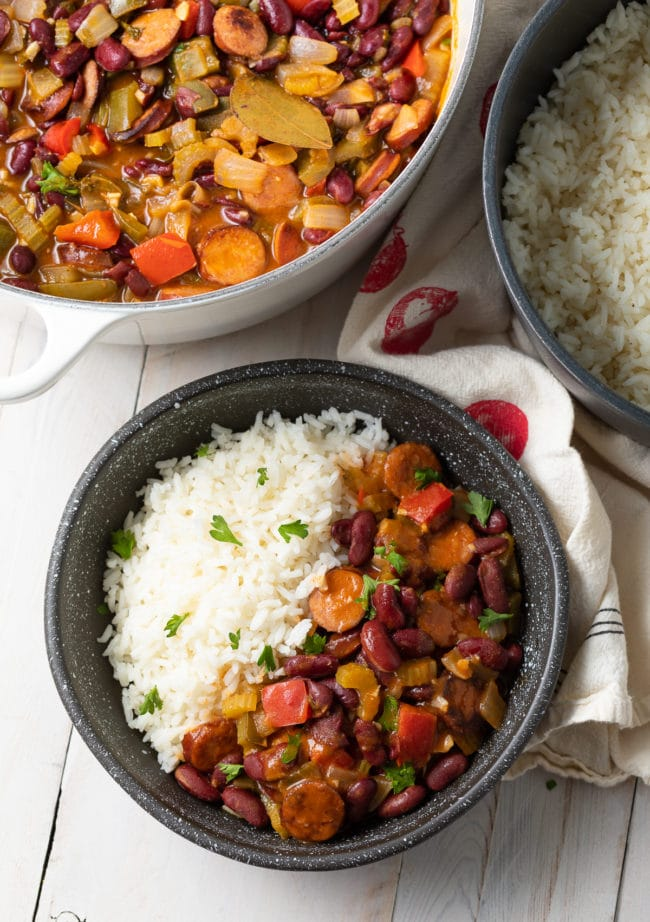 Southern Red Beans and Rice (Recipe) #ASpicyPerspective #rice #beans #southern #glutenfree #comfortfood #sausage