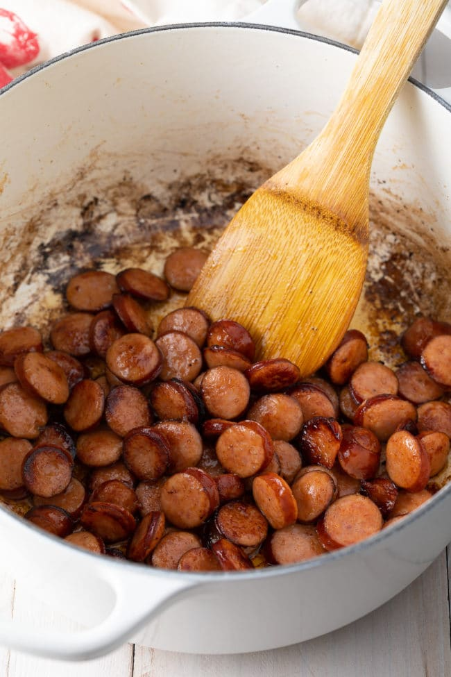 How To Make Easy Red Beans and Rice (Recipe) #ASpicyPerspective #rice #beans #southern #glutenfree #comfortfood #sausage