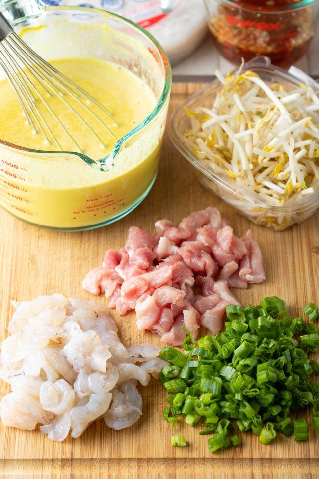 Spring Roll ingredients
