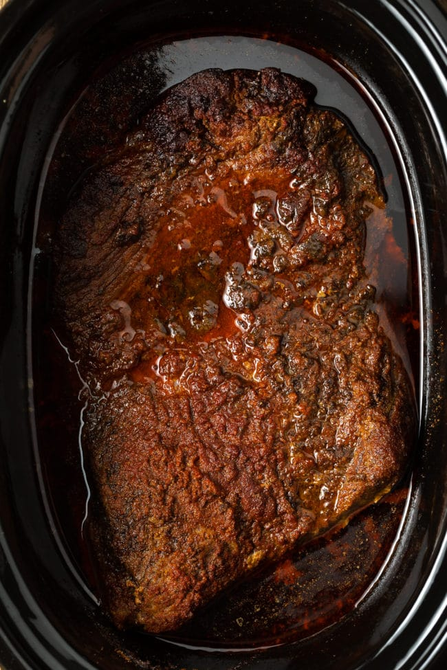 How To Make Slow Cooker Brisket (Texas BBQ Beef Recipe) #ASpicyPerspective #beef #brisket #bbq #texas #crockpot #slowcooker