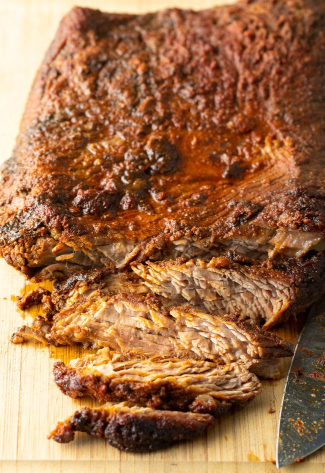 How To Make Slow Cooker Brisket (Texas Chopped Beef Recipe) #ASpicyPerspective #beef #brisket #bbq #texas #crockpot #slowcooker