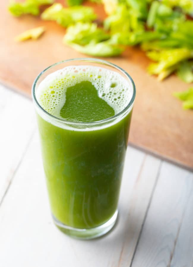 Detox Celery Juice Recipe #ASpicyPerspective #celery #celeryjuice #celeryjuicebenefits #medicalmedium