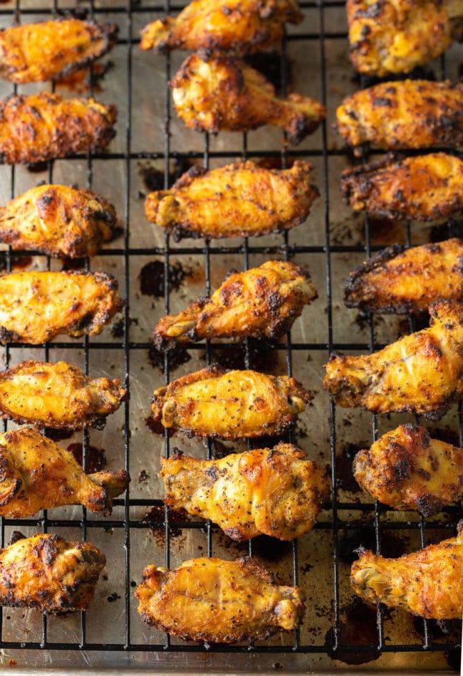 Best Lemon Pepper Chicken Wings Recipe #ASpicyPerspective #chicken #wings #lemon #lemonpepper #baked #lowcarb #keto #paleo #whole30 #superbowl