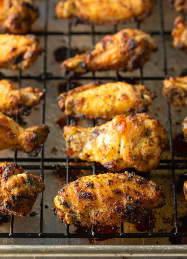 Baked Lemon Pepper Chicken Wings Recipe #ASpicyPerspective #chicken #wings #lemon #lemonpepper #baked #lowcarb #keto #paleo #whole30 #superbowl