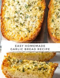Best Easy Garlic Bread Recipe #ASpicyPerspective #bread #garlic #cheese #best #garlicbread