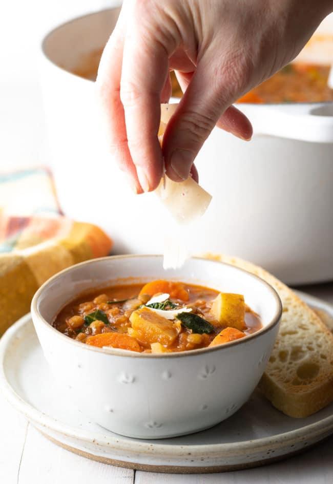 Crock Pot Lentil Soup Recipe (Gluten-Free & Vegan!) #ASpicyPerspective #glutenfree #vegetarian #vegan #instantpot #crockpot #slowcooker #lentils