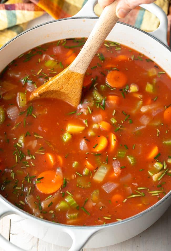 Lentil Soup on the Stovetop