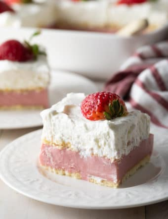Strawberry Pudding Recipe #ASpicyPerspective #pudding #strawberry #southern #homemade #fresh #fromscratch #easter #spring #summer #valentinesday #strawberries