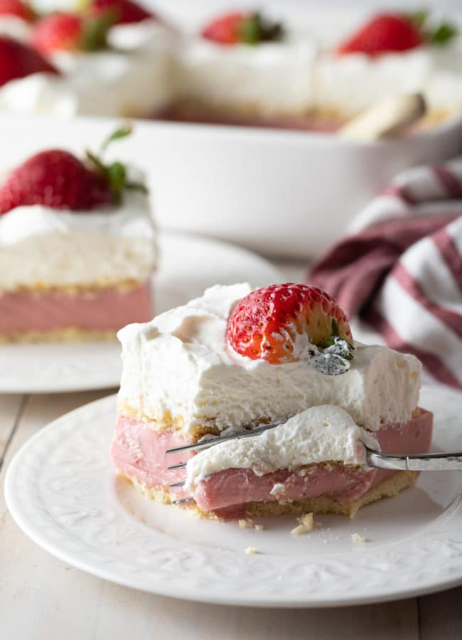 Easy Strawberry Pudding Recipe #ASpicyPerspective #pudding #strawberry #southern #homemade #fresh #fromscratch #easter #spring #summer #valentinesday #strawberries