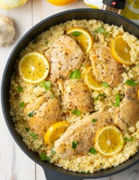 parmesan lemon chicken and rice