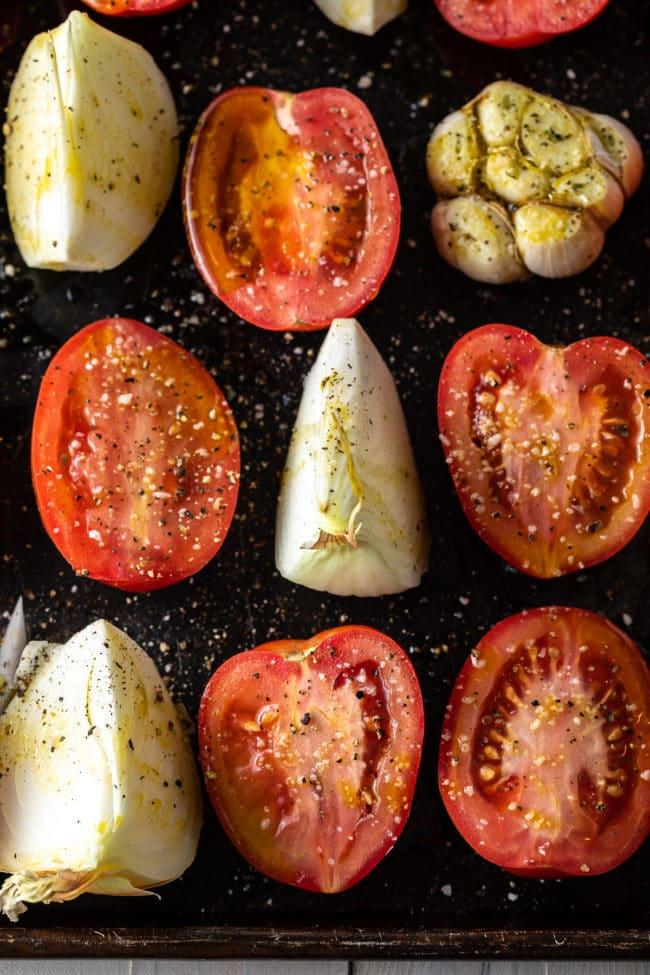 tomatoes garlic onion