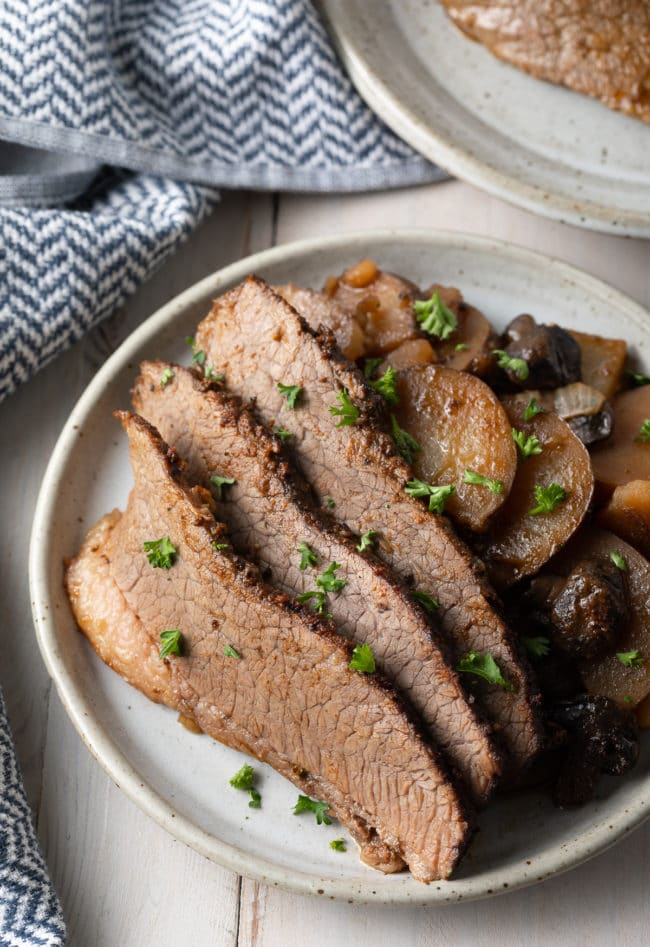 the best slow cooker beef brisket with potatoes and onions