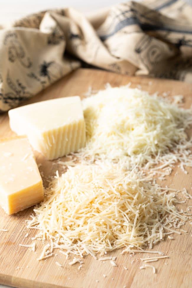 Cheese for Cacio e Pepe (Recipe) #ASpicyPerspective #cacio #pasta #parmesan #pecorino #pepper #italian #best #holiday #comfortfood #carbs