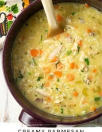 Creamy Parmesan Chicken and Rice Soup Pin