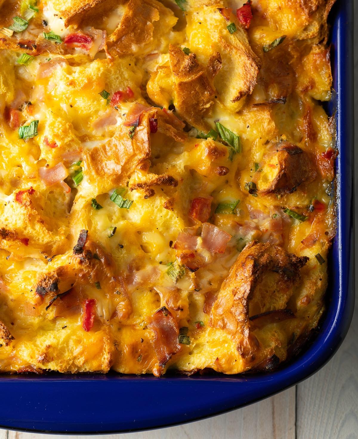 Fluffy Strata Recipe Overnight Breakfast Casserole A Spicy
