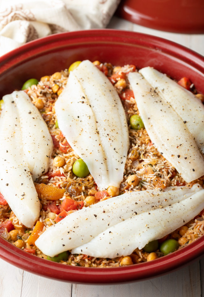 fish and rice tagine